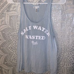 """PINK """"Salt Water Wasted"""" Tank Top"""